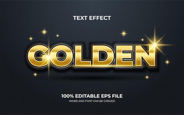 Design elegante efeito de texto cor ouro