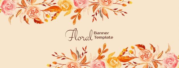 Design elegante linda bandeira floral