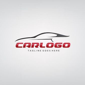 Design elegante logotipo do carro