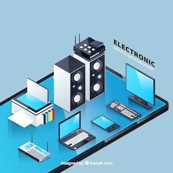 Design eletrônico de fundo