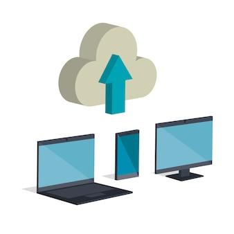 Design eletrônico de ilustração vetorial de ícones isométricos de comércio eletrônico
