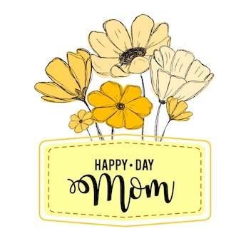 Design encantador do cartão do dia das mães