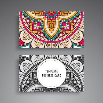 Design escuro de mandala de luxo