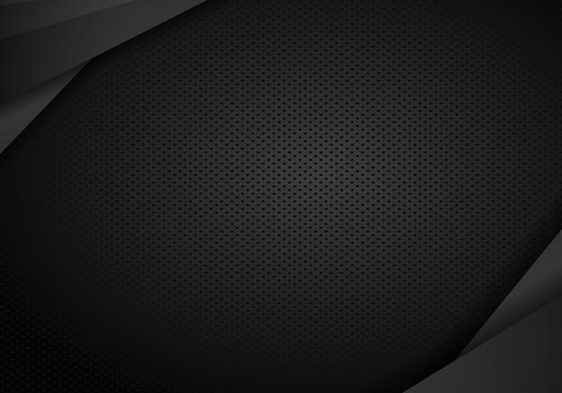 Design escuro de tecnologia com textura de metal perfurada.