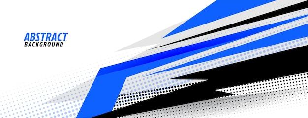 Design esportivo elegante em azul e branco