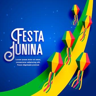 Design festa junina para festival de junho