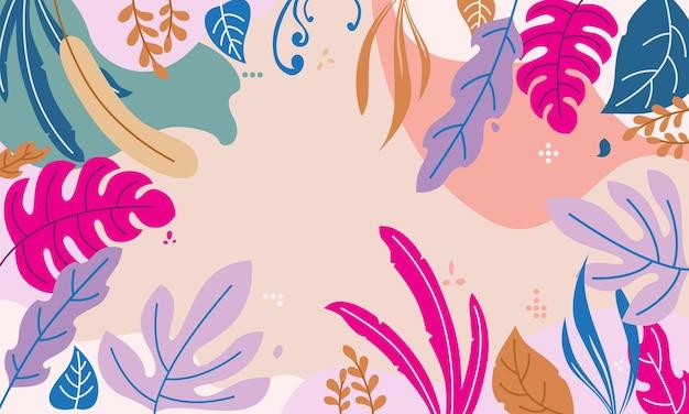 Design floral abstrato que é perfeito para títulos de capa de apresentações, sites e muito mais