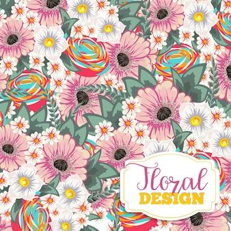Design floral bonito. ilustração vetorial