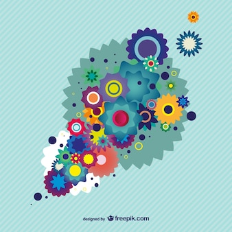 Design floral colorido fundo ilustrador