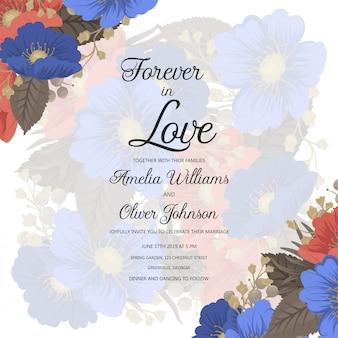 Design floral de fronteira - quadro de flores