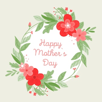 Design floral de fundo de dia das mães