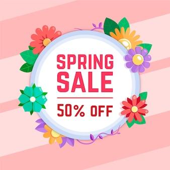 Design floral de vendas de primavera