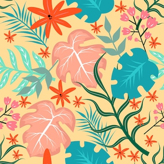 Design floral de verão sem costura padrão