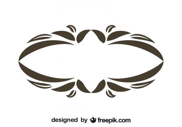 Design floral do vintage oval moldura decorativa