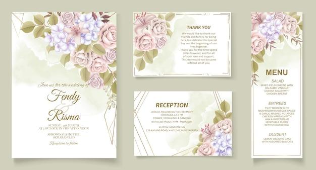 Design floral elegante para convite de casamento