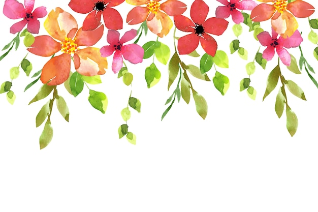 Design floral fundo aquarela