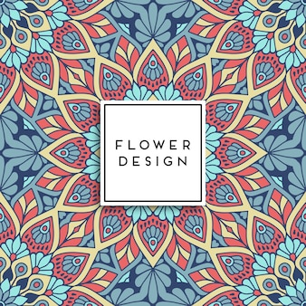 Design floral multicolor de mandala