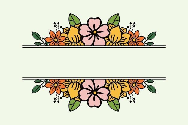 Design floral simples com espaço no meio