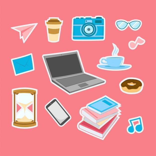 Design freelancer para adesivos e emblemas de remendo