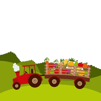 Design fresco fazenda, ilustração vetorial eps10 gráfico