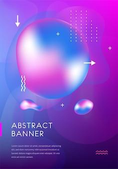 Design futurista. abstrato base de manchas fluidas coloridas difusas. modelo de pôster minimalista