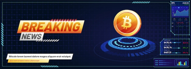 Design futurista moderno, plataforma de negociação de bitcoin.