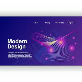 Design geométrico abstrato moderno na moda para a página de destino