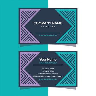 Design geométrico de cartão de visita