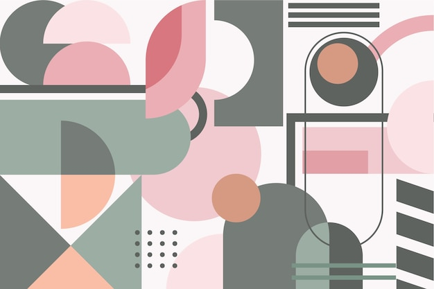 Design geométrico de papel de parede mural