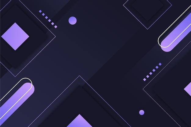Design geométrico gradiente em fundo escuro