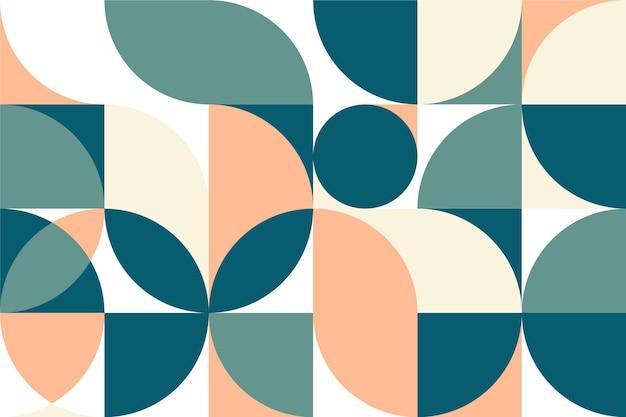 Design geométrico mínimo de papel de parede mural Vetor Premium
