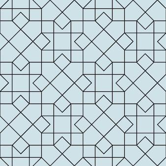 Design geométrico sem costura padrão floral