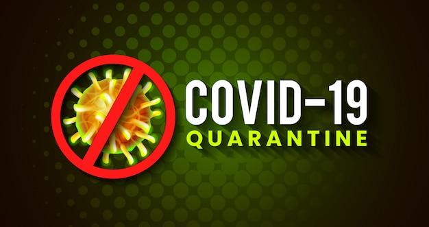 Design global de banner para pandemia de vírus covona-19 corona