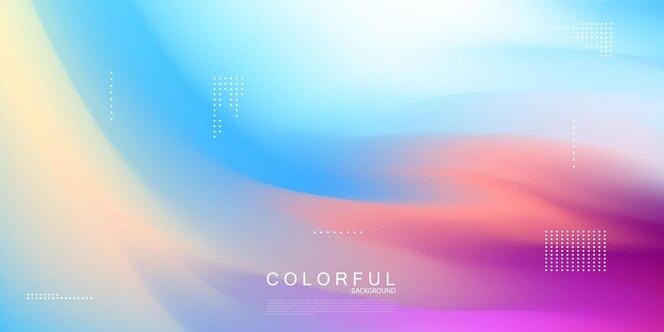 Design gradiente aabstract pastel