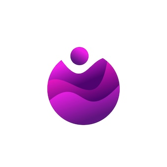 Design gradiente colorido ball wave