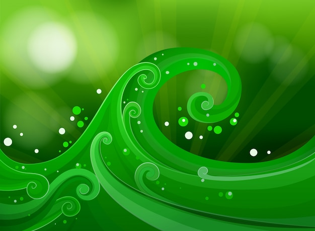 Design gradiente verde