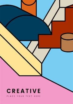 Design gráfico criativo geometria colorida