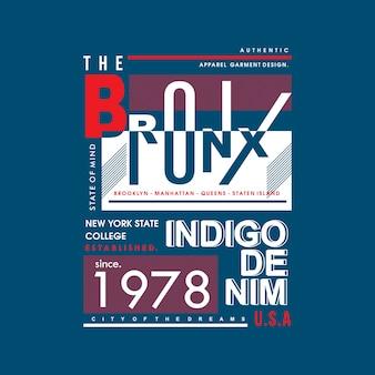 Design gráfico da tipografia camiseta