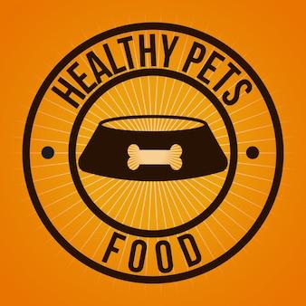 Design gráfico de alimentos saudáveis para animais de estimação