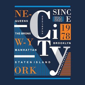 Design gráfico de camisa de nyc