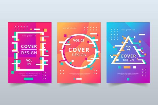 Design gráfico de coleção de capa de falha