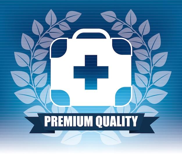 Design gráfico de emblema médico