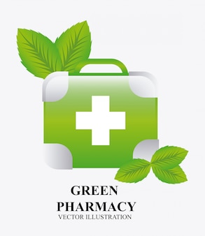 Design gráfico de farmácia