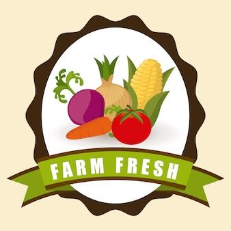 Design gráfico de fazenda