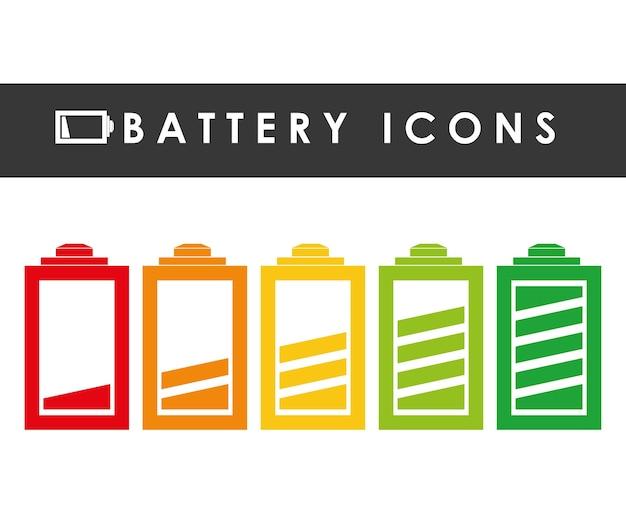 Design gráfico de ícones de bateria
