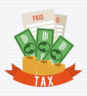 Design gráfico de impostos