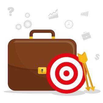 Design gráfico de projetos de gerenciamento de negócios