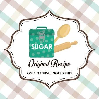 Design gráfico de receita de sobremesa caseira