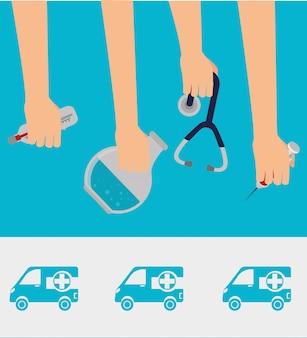 Design gráfico de saúde médico