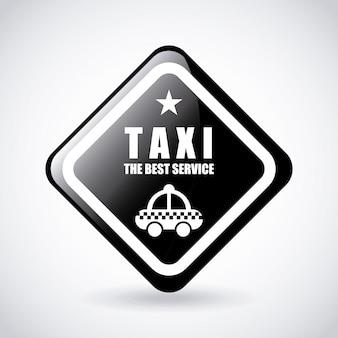 Design gráfico de serviço de táxi